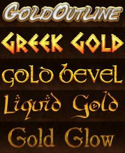 Photoshop Styles - Greek Gold